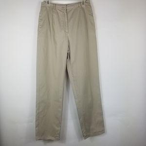 Pendleton Woman Pants Sz 10 Beige Cotton